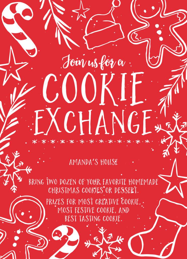 Cookie Exchange Invite Wording