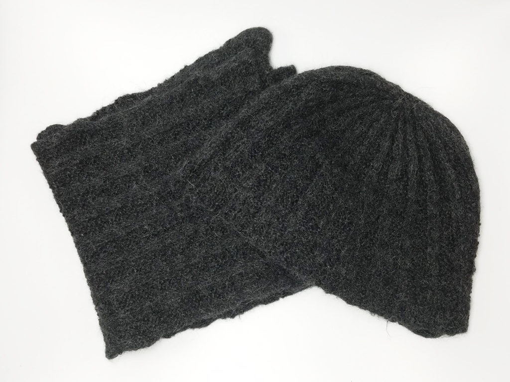 mens knit hat and scarf set