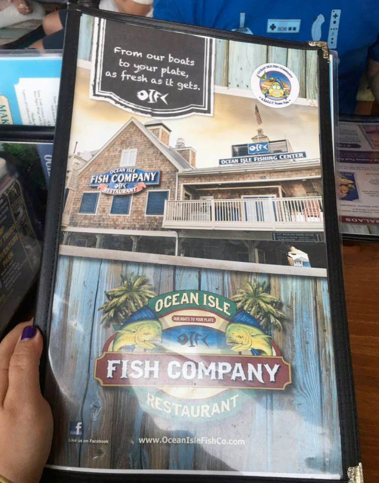 OIB Fish Company Menu