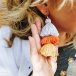 DIY Candy Corn Tassel Earrings
