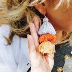 DIY Candy Corn Tassel Earrings